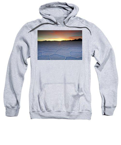 Lake Uyuni Sunset Texture Sweatshirt