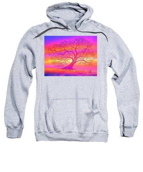 Sunset Tree Cats Sweatshirt