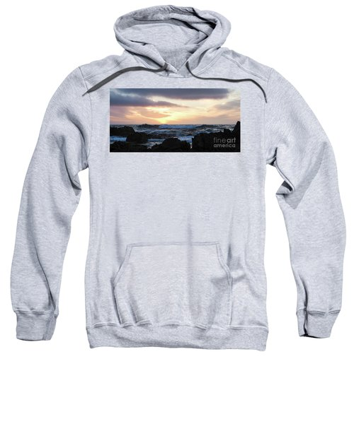 Sunset Waves, Asilomar Beach, Pacific Grove, California #30431 Sweatshirt
