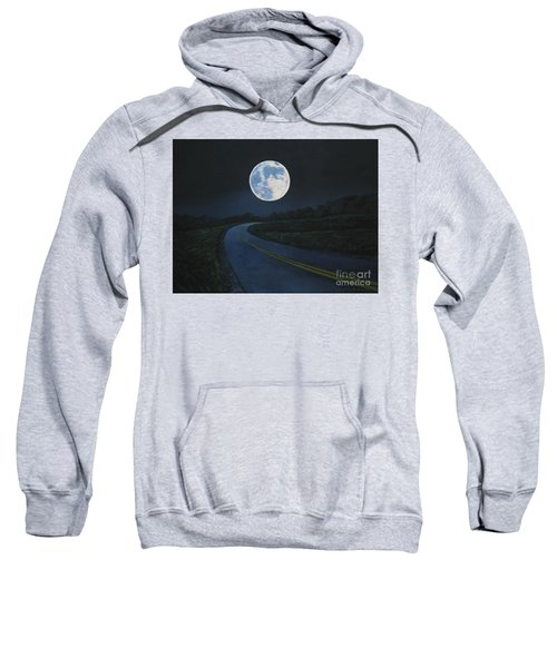 Super Moon At The End Of The Road Sweatshirt