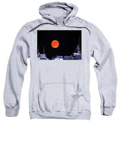 Sweatshirt featuring the photograph Super Moon Over Crazy Sister Marina by Bill Barber
