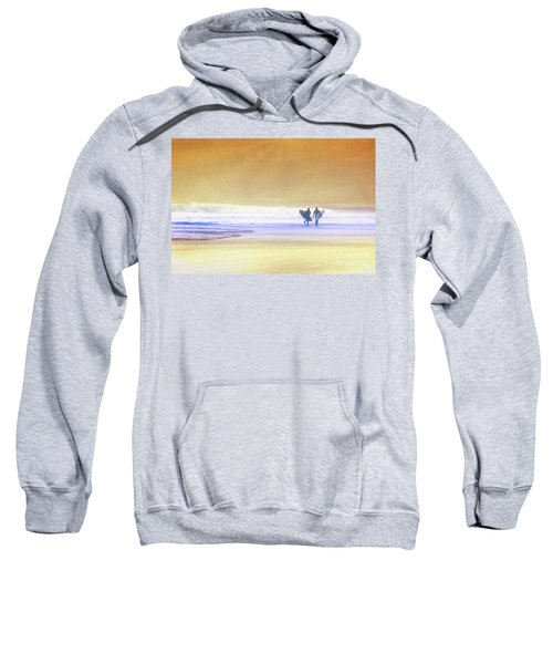 Sweatshirt featuring the photograph Surfers by Scott Kemper