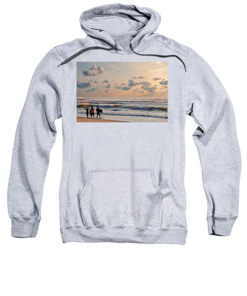 Surfing At Sunrise On The Jersey Shore Sweatshirt