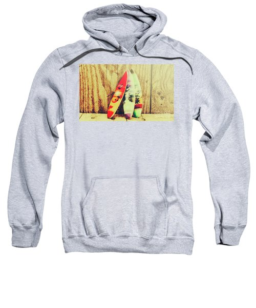 Surfing Still Life Artwork Sweatshirt