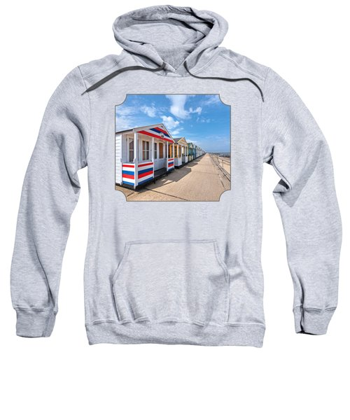 Surf's Up - Colorful Beach Huts - Square Sweatshirt