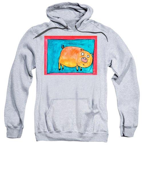 Surprised Pig Sweatshirt