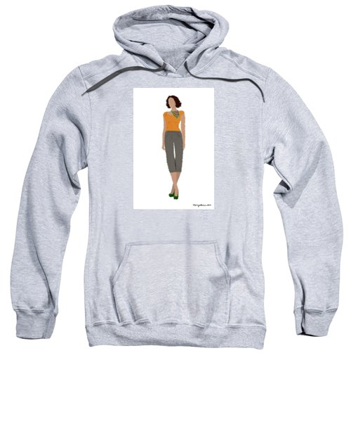 Sweatshirt featuring the digital art Susan by Nancy Levan