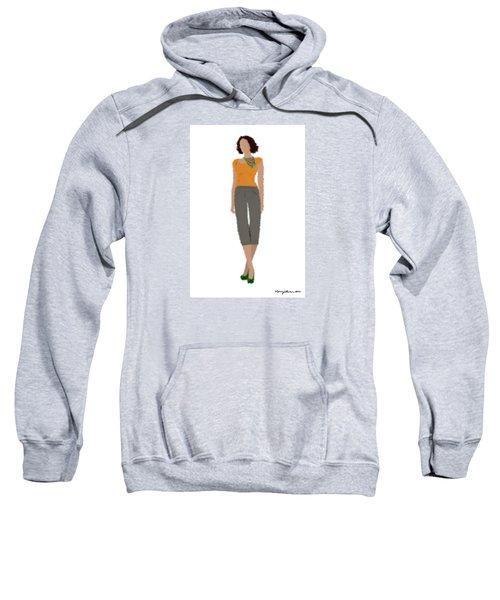 Sweatshirt featuring the digital art Susan by Nancy Levan