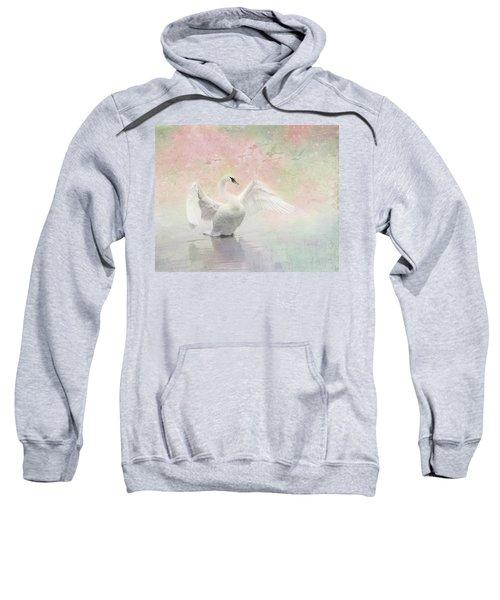 Swan Dream - Display Spring Pastel Colors Sweatshirt