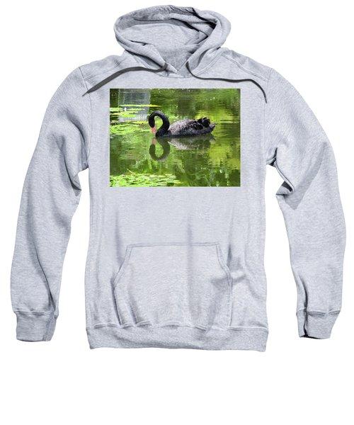 Swan Of Hearts Sweatshirt