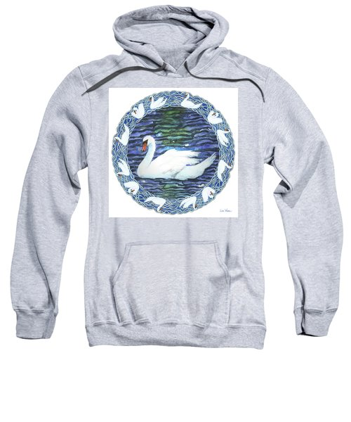 Swan With Knotted Border Sweatshirt