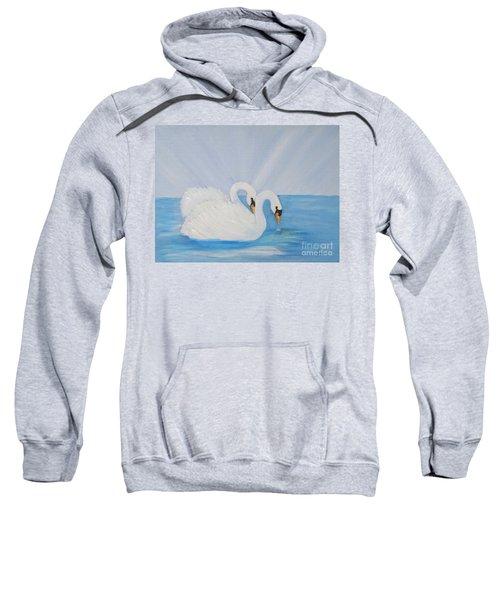 Swans On Open Water Sweatshirt
