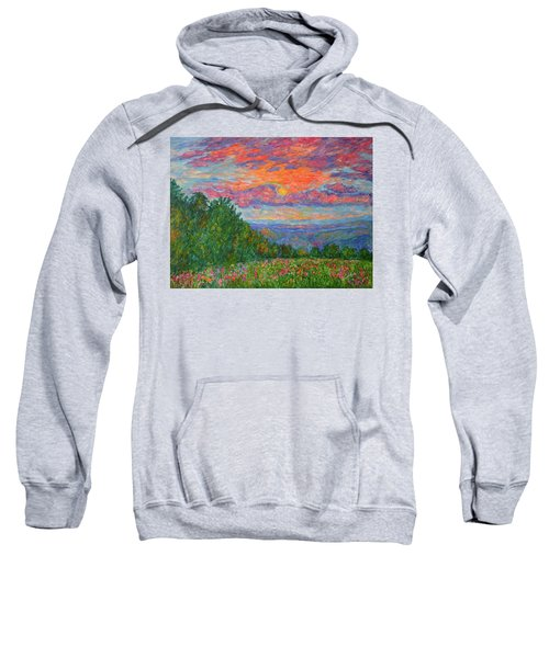Sweet Pea Morning On The Blue Ridge Sweatshirt
