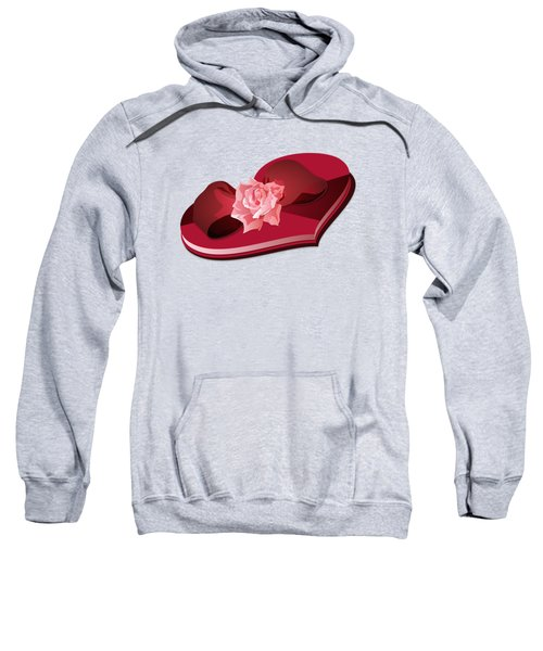 Sweetheart Candy Box With Pink Rose Sweatshirt