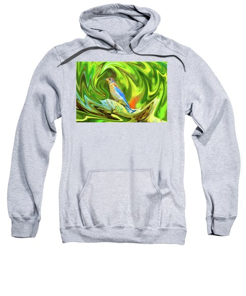 Swirling Bluebird  Sweatshirt