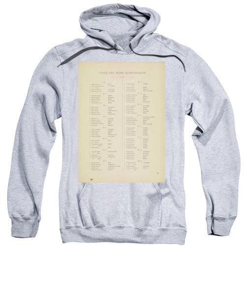 Table Of Contents Sweatshirt
