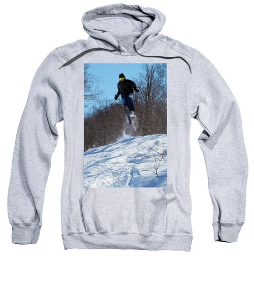 Sweatshirt featuring the photograph Taking Air On Mccauley Mountain by David Patterson