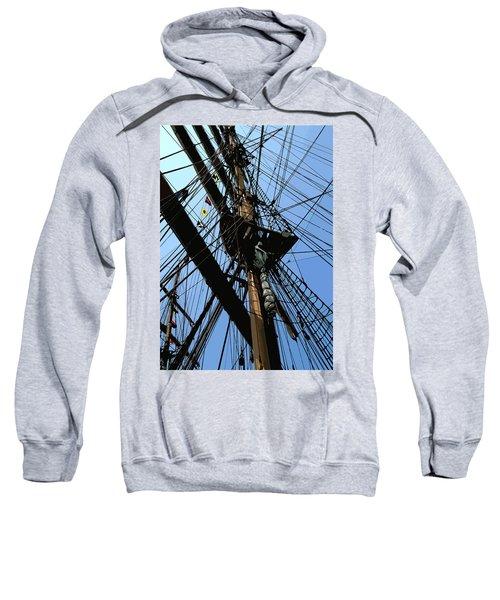 Tall Ship Design By John Foster Dyess Sweatshirt