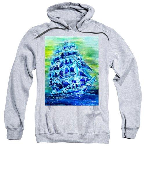 Tallship Alcohol Inks Sweatshirt