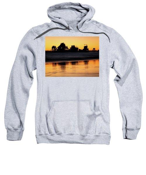 Tangalooma Wrecks Sunset Silhouette Sweatshirt