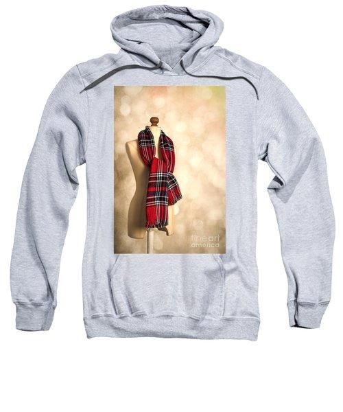 Tartan Scarf Sweatshirt