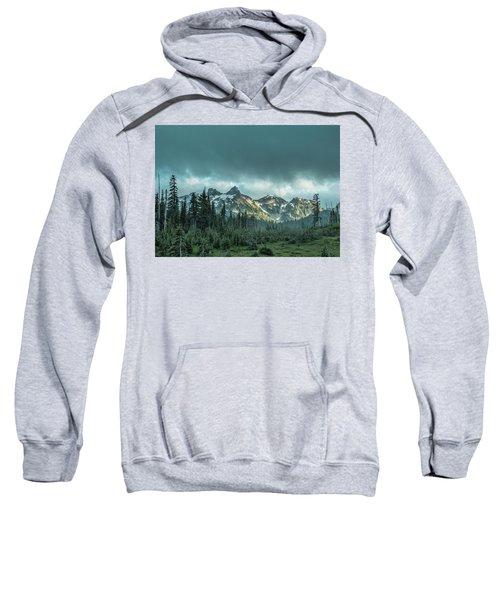 Tatoosh With Storm Clouds Sweatshirt