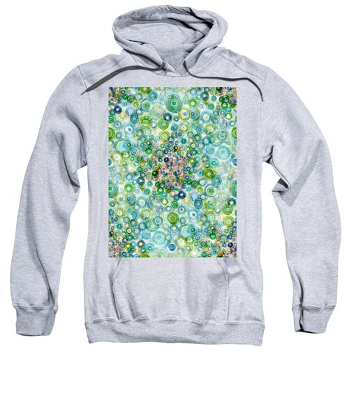 Teal And Olive Concavity Sweatshirt