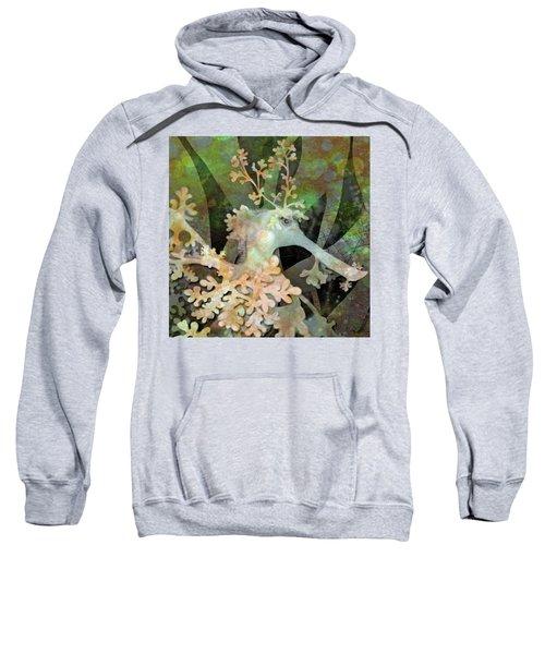 Teal Leafy Sea Dragon Sweatshirt
