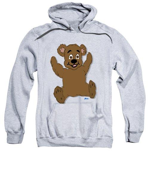 Teddy's First Portrait Sweatshirt by Pharris Art