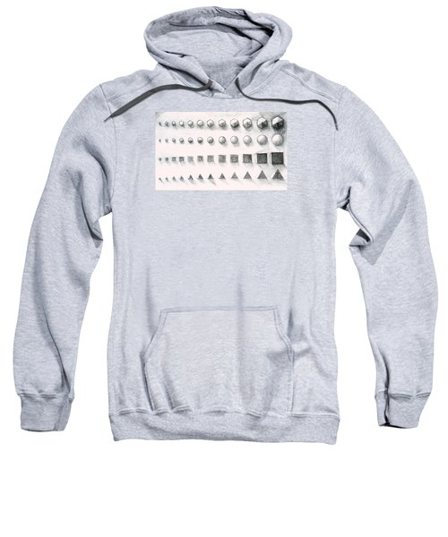 Sweatshirt featuring the drawing Template by James Lanigan Thompson MFA