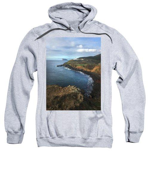 Terceira Island Coast With Ilheus De Cabras And Ponta Das Contendas Lighthouse  Sweatshirt