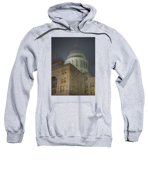 Texas Capitol In Fog Sweatshirt