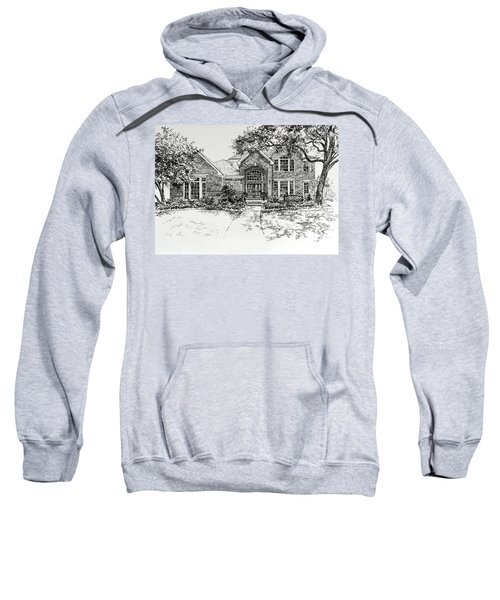 Sweatshirt featuring the painting Texas House Portrait 4 by Hanne Lore Koehler