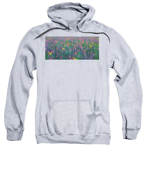 Texas Wildflowers Abstract Sweatshirt