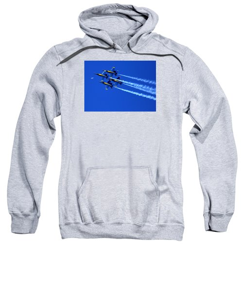 Thanks Goodness For That Fourth Dimension As A Boeing 767 Transitions Above The Box. Sweatshirt