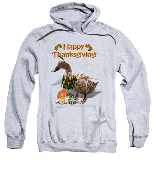 Thanksgiving Indian Duck Sweatshirt by Gravityx9 Designs