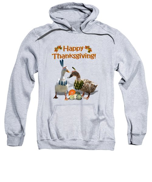 Thanksgiving Indian Ducks Sweatshirt by Gravityx9  Designs