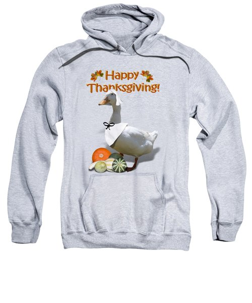 Thanksgiving Pilgrim Duck Sweatshirt by Gravityx9  Designs