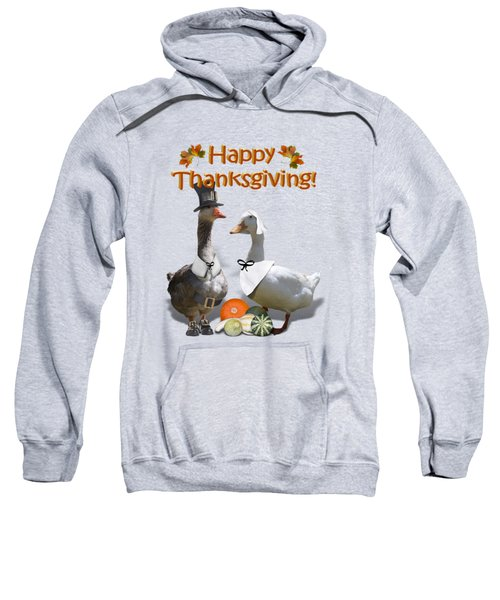 Thanksgiving Pilgrim Ducks Sweatshirt by Gravityx9 Designs