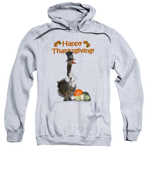 Thanksgiving Pilgrim Goose Sweatshirt by Gravityx9  Designs