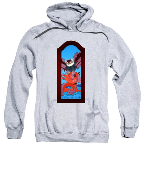 The Apprehension Painted On A Salvaged Cabinet Door Sweatshirt