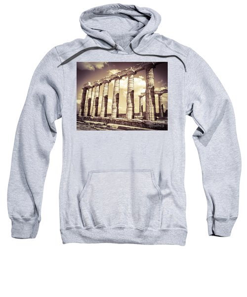 Sweatshirt featuring the photograph The Beauty Of The Temple Of Poseidon by Denise Railey