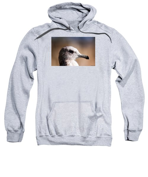 Sweatshirt featuring the photograph The Best Side Of The Gull by Lora Lee Chapman