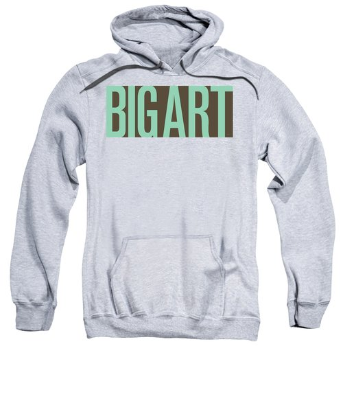 The Big Art - Pure Emerald On Cotton Sweatshirt by Serge Averbukh