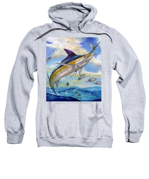 The Blue Marlin Leaping To Eat Sweatshirt