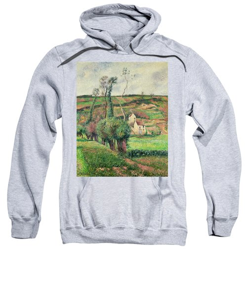The Cabbage Slopes Sweatshirt by Camille Pissarro