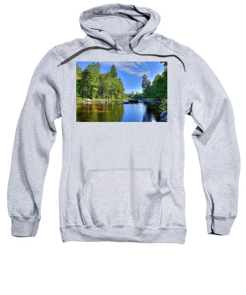 Sweatshirt featuring the photograph The Calm Below Buttermilk Falls by David Patterson