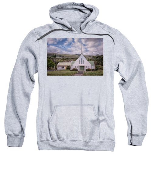 Sweatshirt featuring the photograph The Church by Jim Thompson