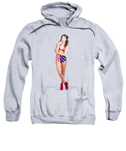 The Classic Pin-up Girl Photo Sweatshirt