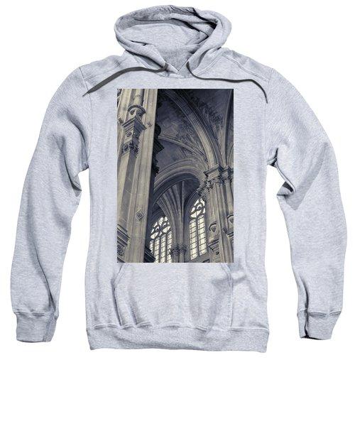 Sweatshirt featuring the photograph The Columns Of Saint-eustache, Paris, France. by Richard Goodrich